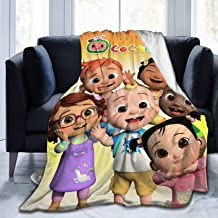 Cocomelon Blanket Nursery Rhy-Mes Ultra-Soft Micro Fleece Blanket Warm Fuzzy Lightweight Plush Luxury Bed Blankets Cozy Co...