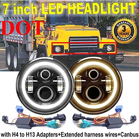 DOT 7 INCH Round LED Headlights Halo Projector For Chevrolet Chevy Pickup Truck