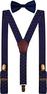 Boys Kids Suspenders and Bow Tie for Wedding Tuxedo Party Polka Dot Braces