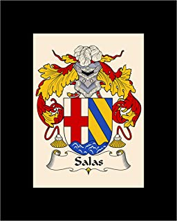 Carpe Diem Designs Salas Coat of Arms/Salas Family Crest 8X10 Photo Plaque, Personalized Gift, Wedding Gift