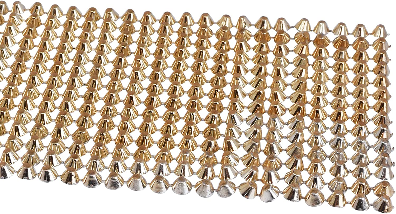 Spikes for Clothing Crafting and Punk Rock Jewelry Designs; 5 Yards Flatback Cone Stud Wrap; by Mandala Crafts Silver