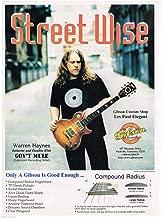 Gibson Guitars - Warren Haynes of Gov't Mule - 1998 Advertisement