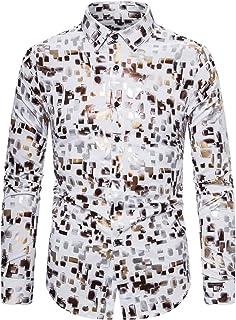 Heren Persoonlijkheid Afdrukken Shirt met lange mouwen Mode Stretch Trend Kleuraanpassing Casual Outdoor Streetwear Basic ...