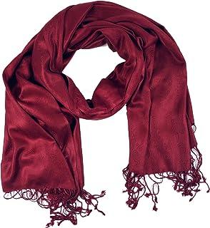 GURU SHOP Indischer Pashmina Schal/Stola, Herren/Damen, Rot, Synthetisch, Size:One Size, Schals Alternative Bekleidung