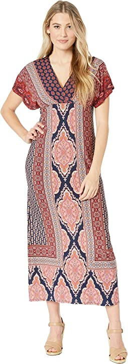 Dolman Sleeve Warp Top Maxi Dress