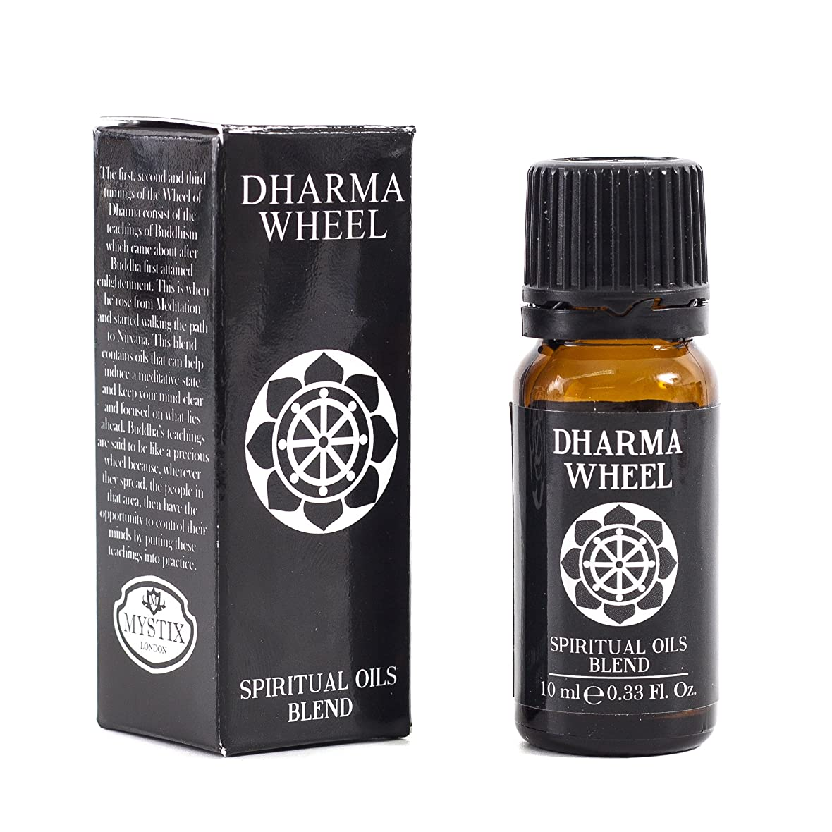 費やすピカソ月Mystic Moments | Dharma Wheel | Spiritual Essential Oil Blend - 10ml