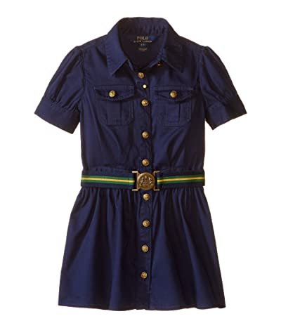 Polo Ralph Lauren Kids Tissue Chino Shirtdress (Toddler) (Newport Navy) Girl