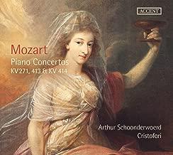 Mozart : Piano Conc. Kv 271, 413 & 414/ Schoonderwoerd