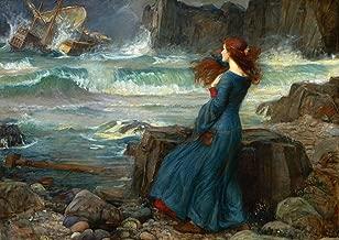 John William Waterhouse: Miranda, The Tempest. (Shakespeare) Fine Art Print/Poster. (42cm x 29.7cm)