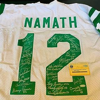 c574df2d251 1969 New York Jets Super Bowl Team Signed Joe Namath Jersey 27 Sigs COA -  Steiner