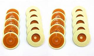 TSUCIA 羊毛フェルトバフ100φ 20枚セット ディスクグラインダー 用 金属研磨 バフ研磨 鏡面 仕上げ 表面 粗さ 処理 緻密加工 (オレンジ20枚)