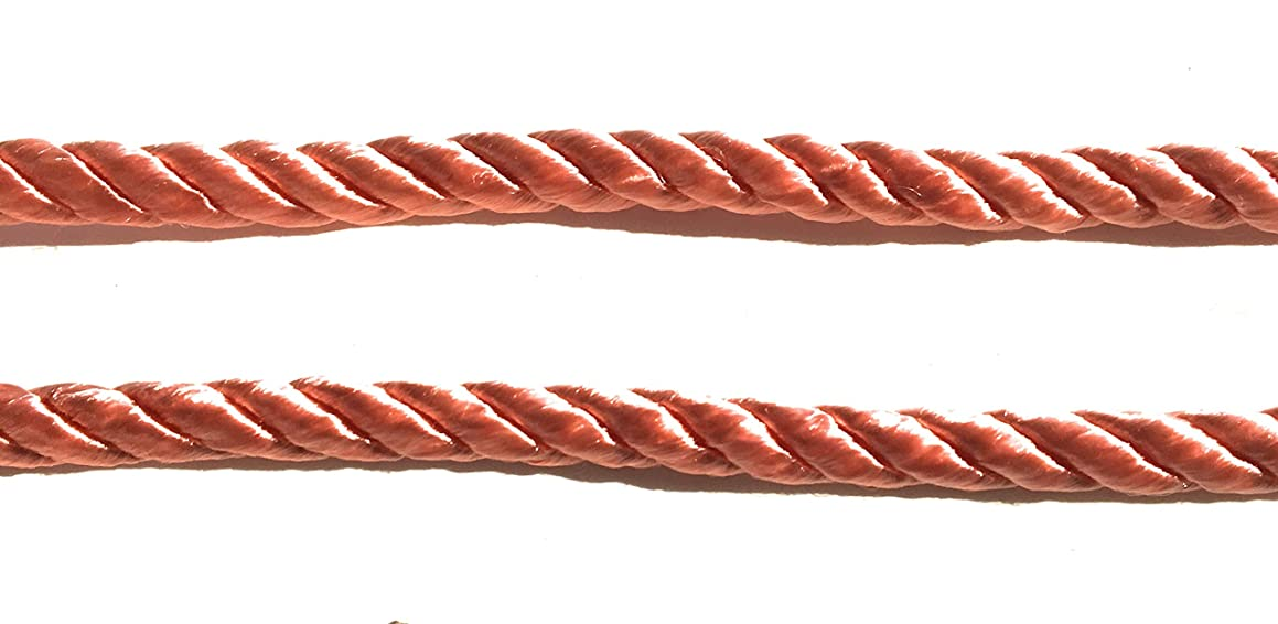 Coral CORD -Trims 3/8'' (8mm) Twisted Rayon Decortive Rope 5 yards
