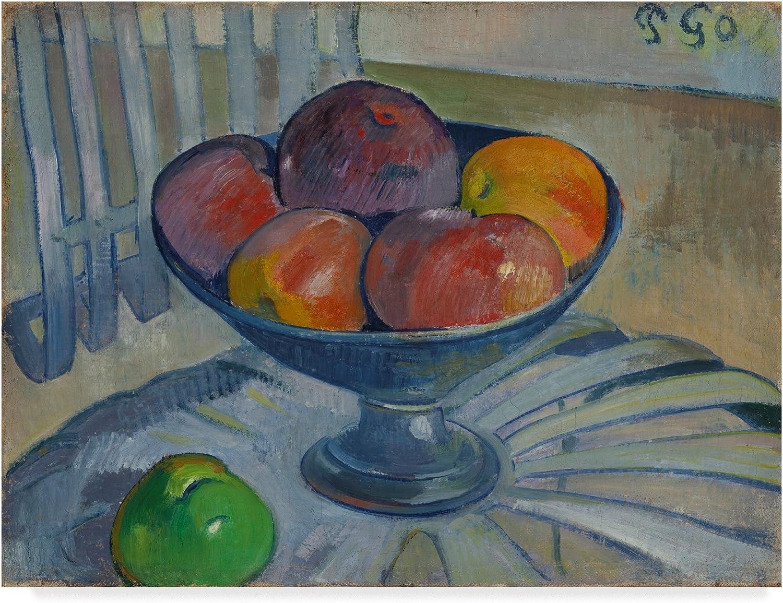 Trademark Fine Art Fruit Dish on a Garden Chair by Paul Gauguin, 14x19, Multicolor