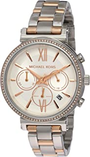 Michael Kors Sofie Women's White Dial Stainless Steel Band Watch - Mk6558, Analog Display