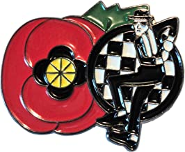 Ska Man 11.11.11 Poppy Armistice Remembrance Day Enamel Badge