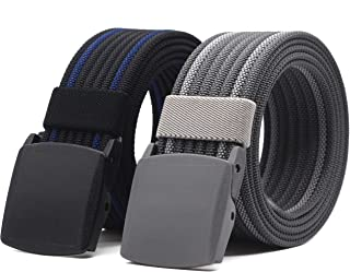 Nylon Canvas Belt Adjustable Belts Tactical Plastic Buckles Set By ANDY GRADE