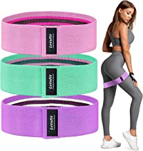 Letsfit Booty Bands, Resistance Bands Set for Women Butt and Legs, Exercise Bands for Home Workout, Pilates, Yoga, Stretching, Wide Anti Slip Fabric Glute Hip Bands