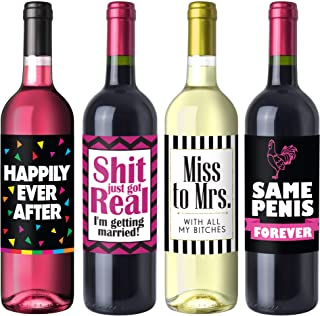 Bachelorette Party Wine Label Pack - Bachelorette Party Favors, Supplies, Gifts and Decorations