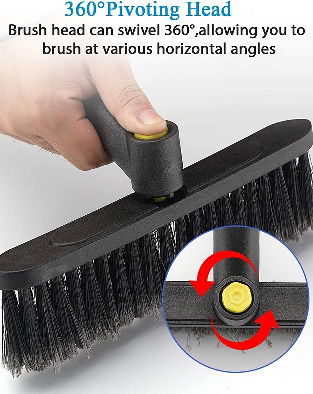Car Snow Brush with Squeegee,Extendable,Scraper with Foam Grip,Brush Supports 360 Degree Rotation,for Car SUV MPV Light Weight Anti-Freeze Scratch-Free Snow Removal,Blue
