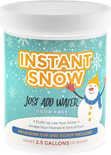 Playlearn Instant Snow Powder -Magic Fake Snow Party Decoration (Makes 2.5 gallons)