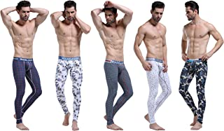 ARCITON Mens Low Rise Leggings Long Johns Thermal Bottom Pants Pack