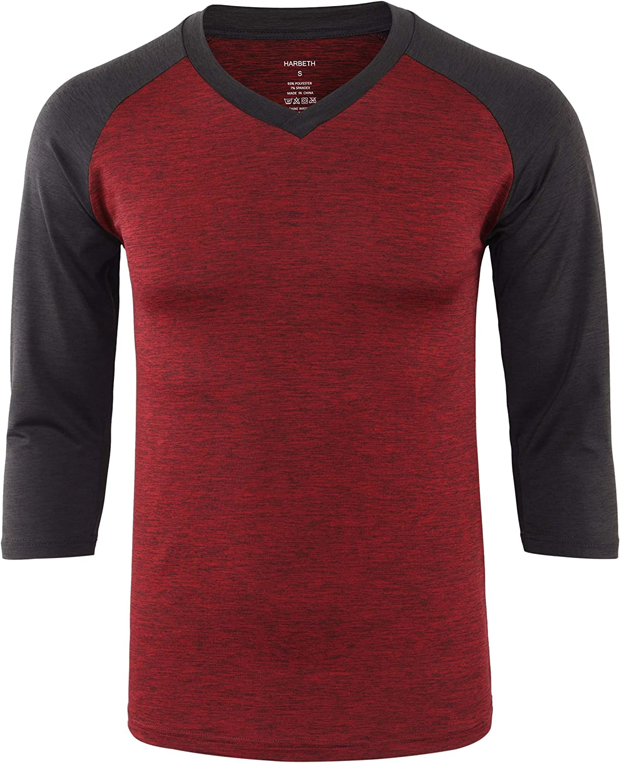 HARBETH Men's Quick Dry Tagless Outdoor Hiking At 3 Sleeve 35% OFF Gym Discount is also underway 4