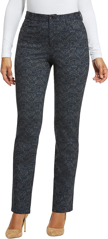 Gloria Vanderbilt Amanda Ponte Damask Printed Pants