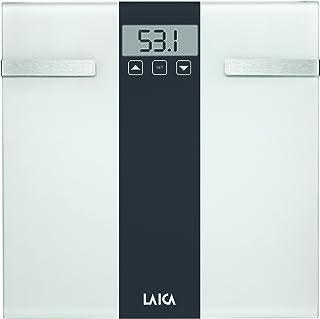 Laica Bilancia Pesapersone Body Composition, Bianco/Grigio, 180 kg, 2 unità