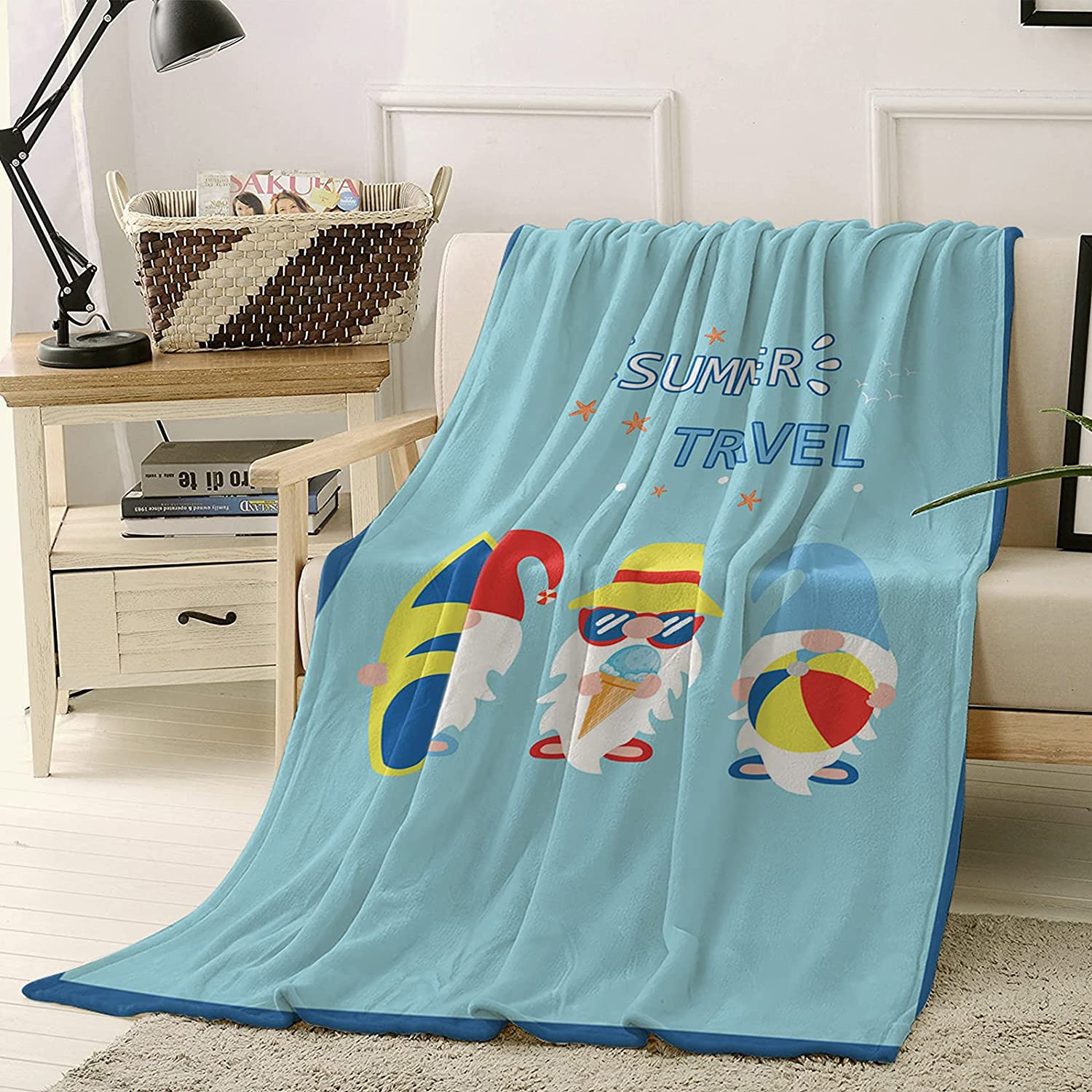 Summer Throw Blankets for Couch Bed and Blanket Soft Charlotte Mall Max 84% OFF Super