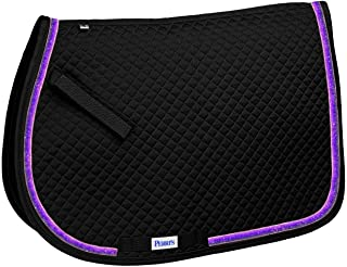 Perri's A/P Sparkle Ribbon Saddle Pad Pony Black Purple Sparkle Ribbon Saddle Pad