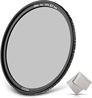YSDIGI Ultra-Slim 67mm Circular Polarizer Filter, CPL Filter with Lens Cloth, Multi-Coated, High Definition Schott B270 Glass, Nano Coatings, HD CPL Filter for Outdoor Photography.