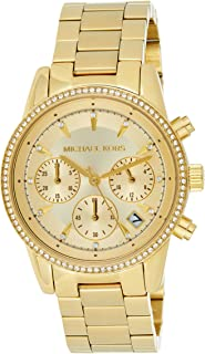 Michael Kors Womens Quartz Watch, Chronograph Display and Stainless Steel Strap