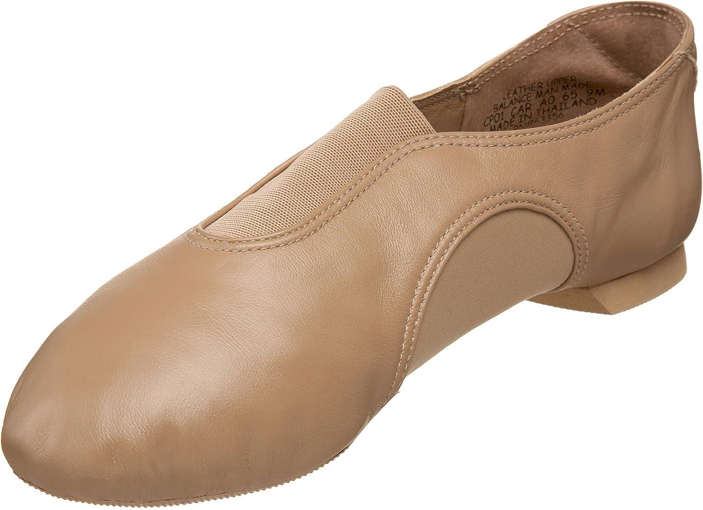 Capezio Women's CP01 V Jazz Low Shoe,Caramel,5 M US