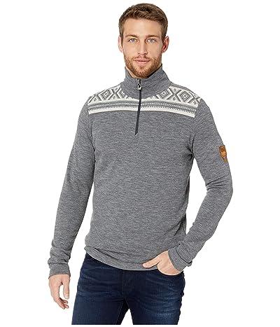 Dale of Norway Cortina Merino Masculine Sweater (E-Smoke/Black) Men