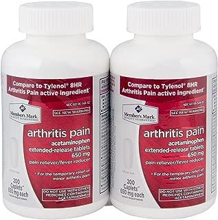 Member's Mark 650mg Acetaminophen Extended Release Pain Reliever Fever Reducer Arthritis Pain Caplets (2 bottles (400 caplets))