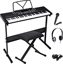 Saturnpower 61-Key Portable Electronic Keyboard Piano with B