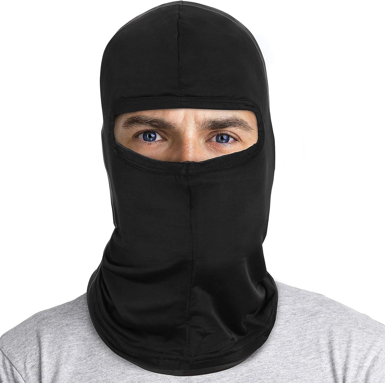 Silk Balaclava - Breathable Under Helmet Wear Windproof Motorcycle Riding Balakalava Black