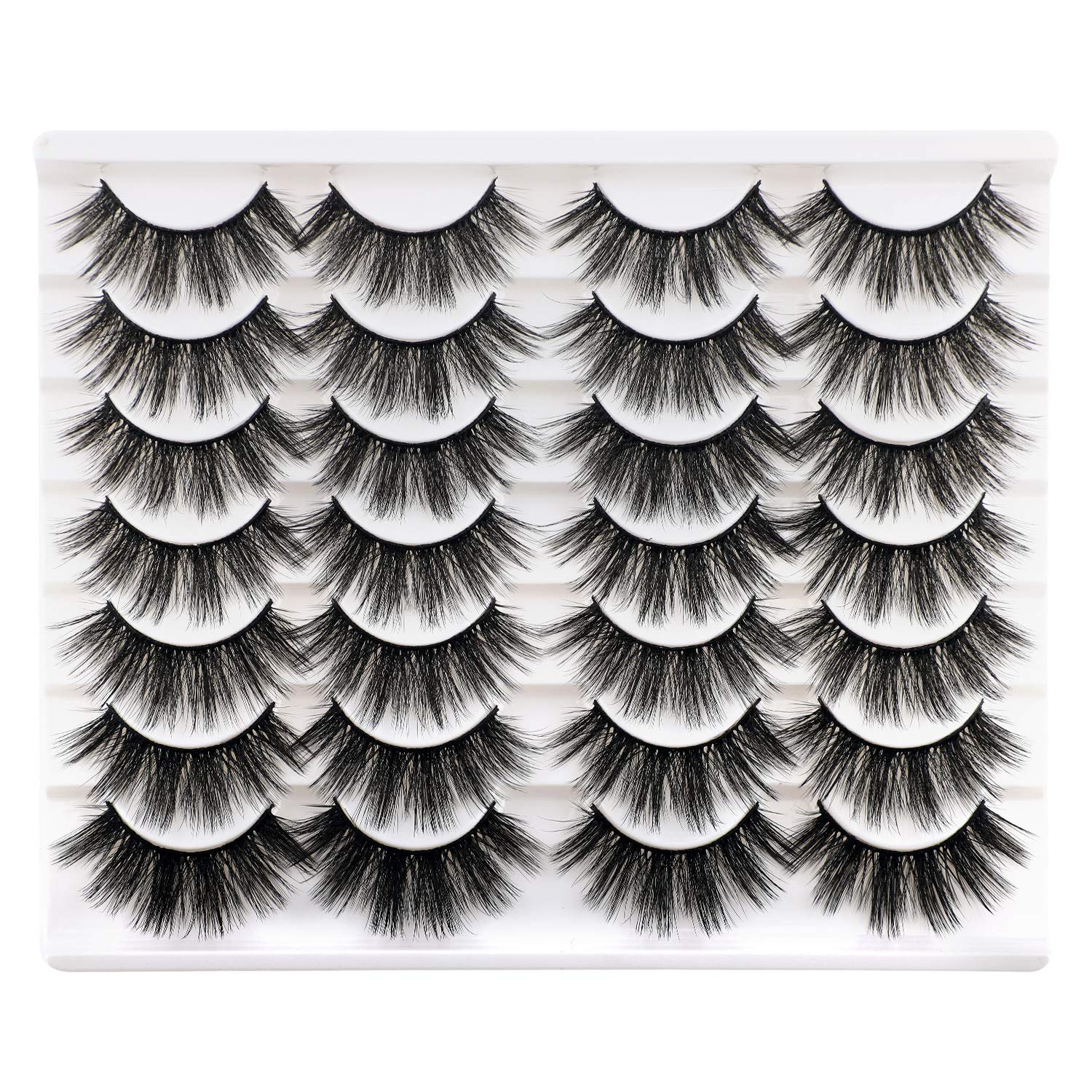 Newcally Lashes False Eyelashes specialty shop Dramatic P discount Mink Faux 20MM