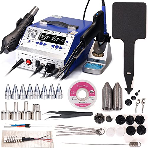 2021 YIHUA outlet sale 948-II Professional Soldering, Desoldering & Rework Station bundle with the #948N Desoldering Nozzles with Iron Holder, Soldering Iron, and Accessories outlet sale (40 Items) online sale