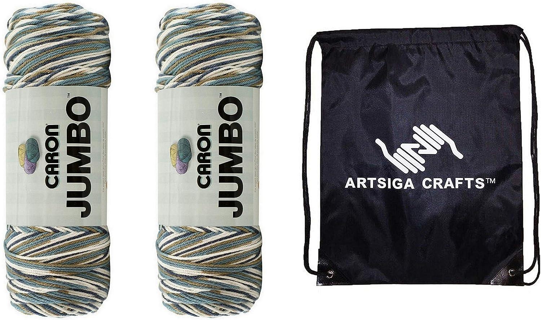 Caron 2021 new Knitting Yarn Jumbo Print Factory Country Basket P 2-Skein Max 75% OFF
