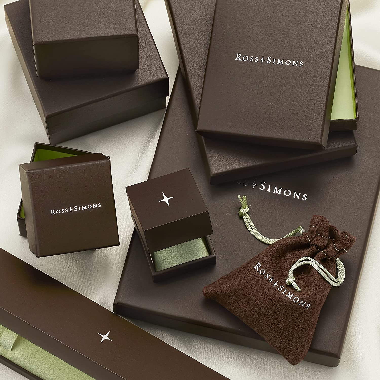 Ross-Simons 0.25 ct. t.w. Diamond Interlocking Square Earring Jackets in 14kt 2-Tone Gold