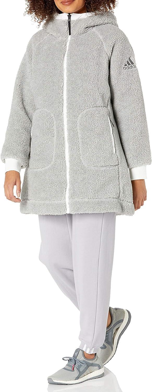 adidas Women's Reversible Insulated Popularity Sherpa Jacket Popular brand