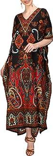 Women Kaftan Tunic Kimono Free Size Long Maxi Party Dress for Loungewear Holidays Nightwear Dresses