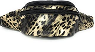 Cute Fanny Packs for Women with 3 Pockets - Travel Waist Bags (Animal Print (Tan))
