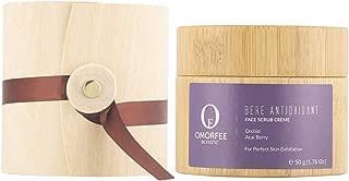 OMORFEE Organic Berè Antioxidant Face Scrub Crème | Organic Face Scrub | Acai Berry, Orchid, Plant Cellulose Beads, Turmeric, Blueberry | 50 Grams / 1.76 Oz.