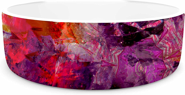 KESS InHouse Suzanne Carter Gem Stone  Red Pink Pet Bowl, 7