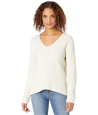 tentree Highline Cotton V-Neck Sweater (Elm White Heather) Women