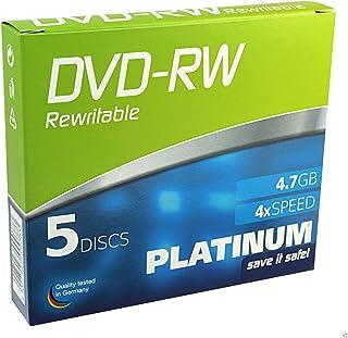 PLATINUM 102570DVD-RW 4,7GB 4X Speed, Slim Case of 5