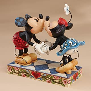 """Best Disney Traditions by Jim Shore Mickey Mouse Kissing Minnie Stone Resin Figurine, 6.5"""" Review"""