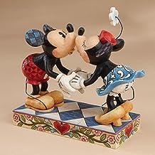 تمثال ديزني تقليدي بواسطة جيم شور ميكي ماوس بتقبيل ميني ستون من الراتينج مقاس 16.5 سم